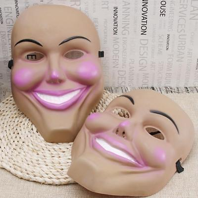 Halloween Plastic Purge Grin Mask Horror Party Fancy Kiss Me Smiling Costume