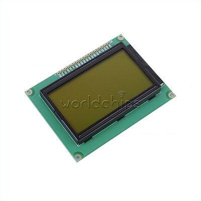 5v 12864 Lcd Display Module Graphic Matrix 128x64 Dots Yellow Green Backlight