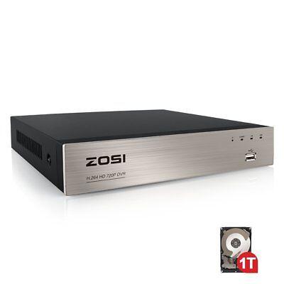 ZOSI 8ch 8 ch 1080N Channel DVR HD HDMI 1TB HDD for CCTV Camera Security System