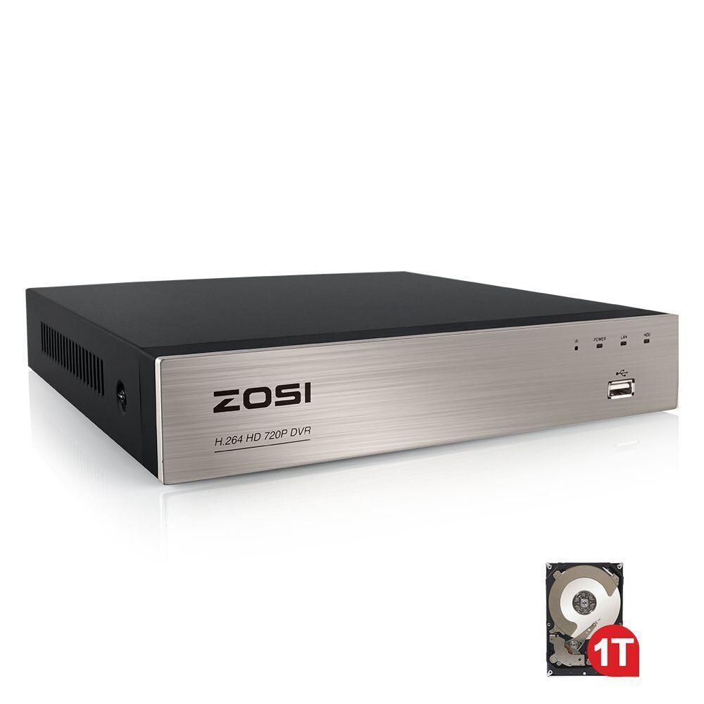 ZOSI 8ch 8 ch 1080N Channel DVR HD HDMI 1TB HDD for CCTV Cam