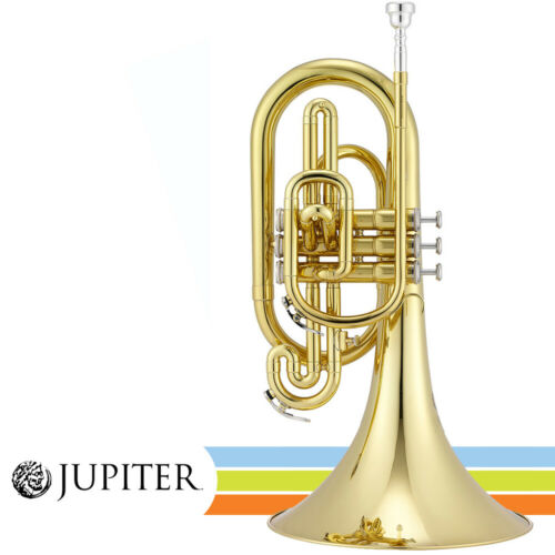 NEW Jupiter JMP1000M Key of F Lacquered Brass Body Marching Mellophone w/ Case