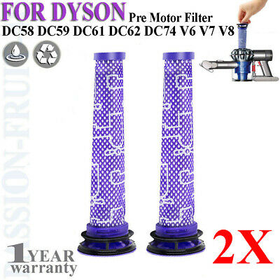 2Pack Pre Motor Filter for Dyson DC58 DC59 V6 V7 V8 Replaces Part # 965661-01 CC ()