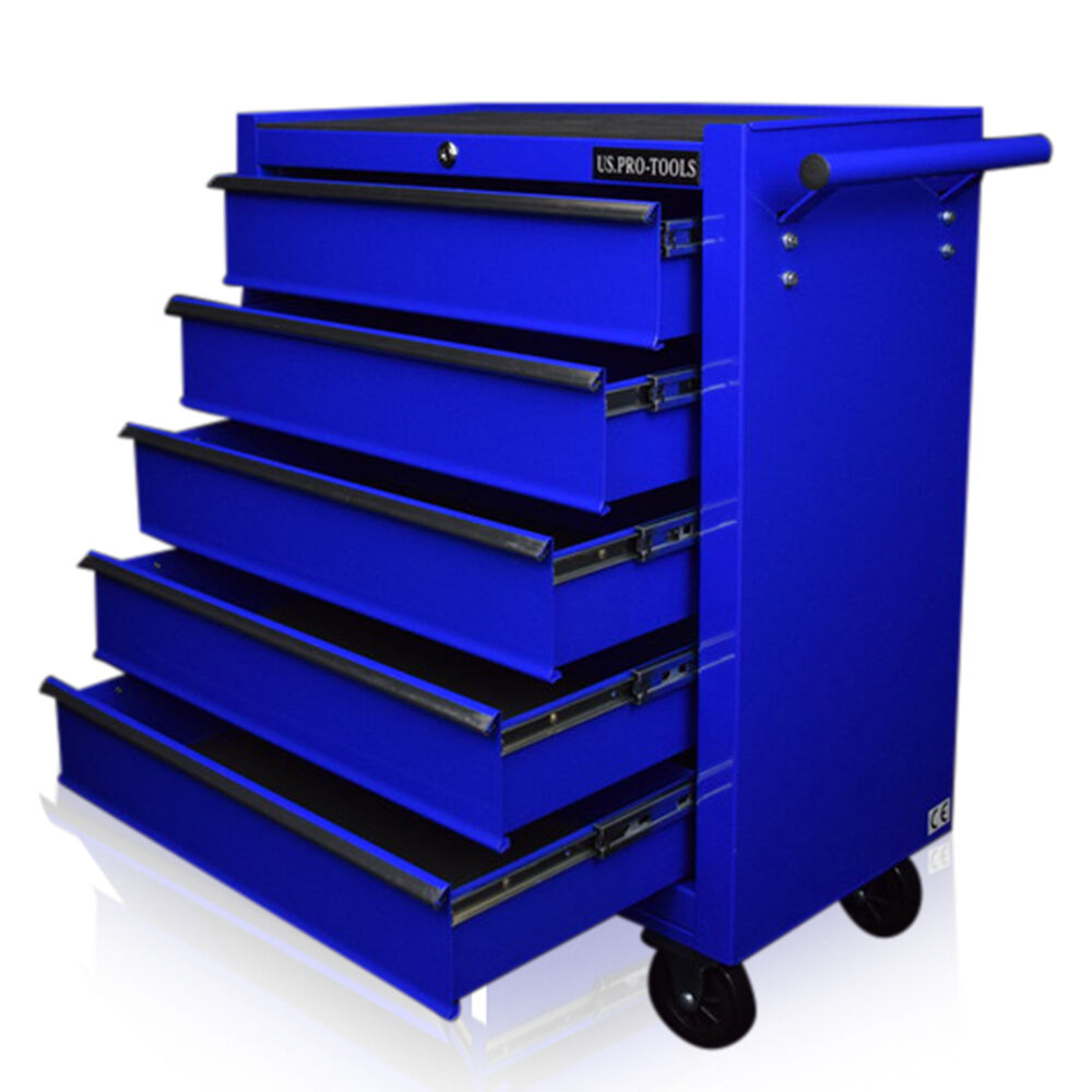 130 us pro blue tools affordable steel chest tool box for Sideboard roller