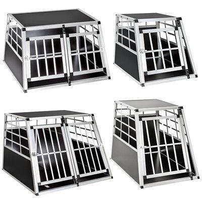 Dog Pet Transport Transportation Aluminium Carrier Box Cages Crate Car Travel