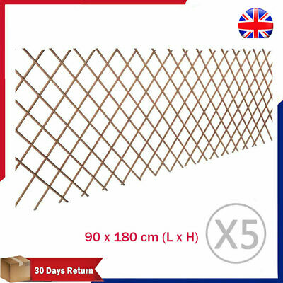 5X Extendable Willow Trellis Garden Fence Barrier Panel Palisade Climbing Plants