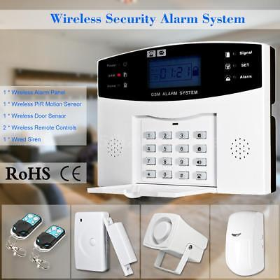 Wireless GSM SMS Home Einbrecher Alarmanlage Detektor Sensor Kit Telefon APP DE