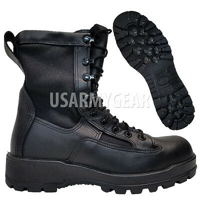 Wellco Army Youth Kids Boys Military GORETEX Infantry Combat LEATHER Boots 5.5 W - Boys Military