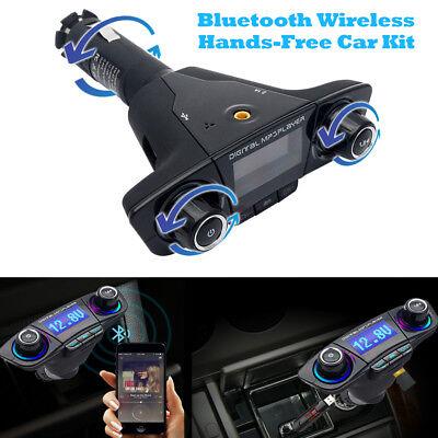 KFZ Bluetooth FM Transmitter Auto Bluetooth 4.0 Radio MP3 Player 2USB Adapter SD