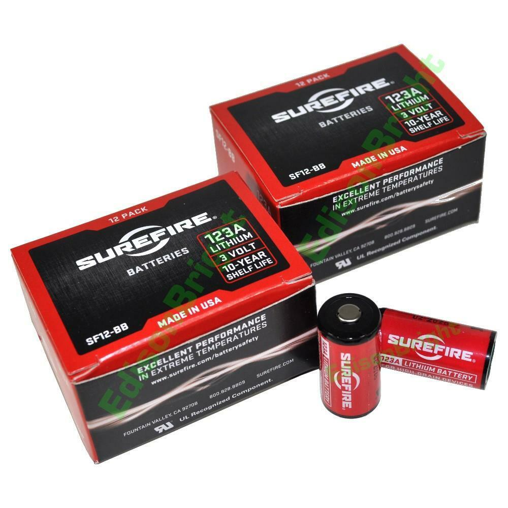 24 Pack Surefire Cr123a Lithium Batteries (made In Usa) S...