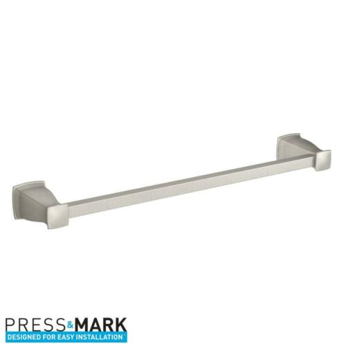 MOEN Hensley 18 in. Towel Bar with Press and Mark in Brushed Nickel
