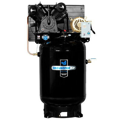 Industrial Air 10 Hp 230v 120 Gal. Baldor Air Compressor Iv9919910 New