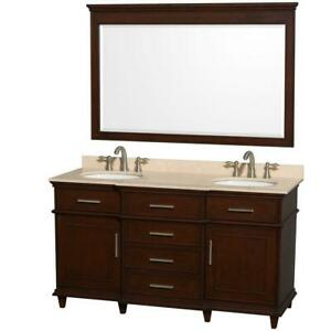Hatton 60 Double Bathroom Vanity Set by Wyndham Collection ** 5 CORNERS FURNITURE **