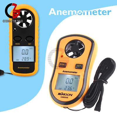 Mini Digital Lcd Wind Speed Gauge Air Temprature Meter Anemometer Thermometer