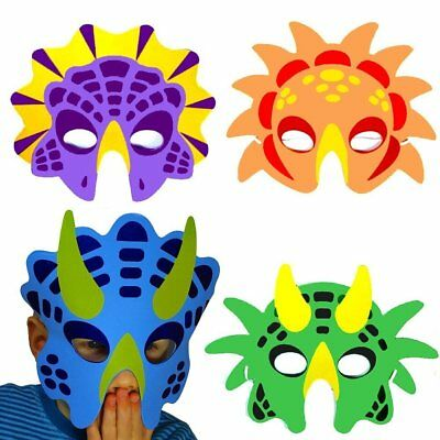 German Trendseller® - 8 x Dino Masken aus Schaumstoff | Dino Party | Fasching
