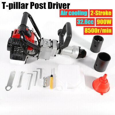 2-Stroke T Post Driver Pile Driver Garden Farm Fence  Hammer Petrol Powered 900W