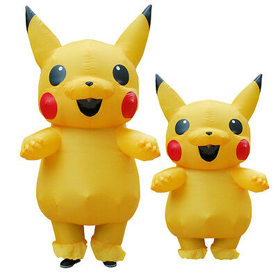 ostume Pokemon Cosplay Halloween Mascot Outfits Adults&Kids (Pokemon Outfits)