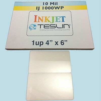 10 ID Card Kit Inkjet - Includes 1up Perforated Teslin & 7mil Butterfly Pouches