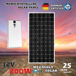 12V 200W Solar Panel Kit Home Generator Caravan Camping Power Mo North Melbourne Melbourne City Preview