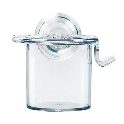 InterDesign Power Lock Suction, Toothbrush and Toothpaste Holder- Clear