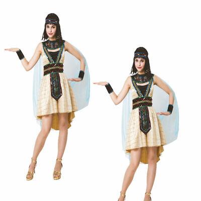 Ägyptische Königin Nil Kleopatra Sparkle Prinzessin Damen Kostüm Kostüm - Sparkle Kleid Kostüm