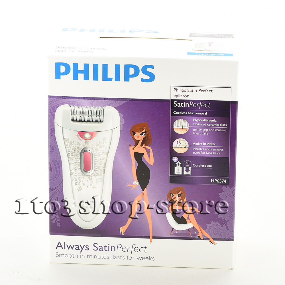 Philips Hp6574/50 Cordless Hair Removal Satin Perfect Epi...