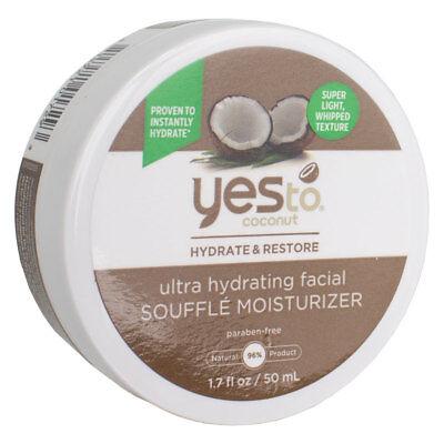 Yes To Coconut Ultra Hydrating Facial Souffle Moisturizer 1.7 fl oz - Fl Oz Facial Hydrating Cream