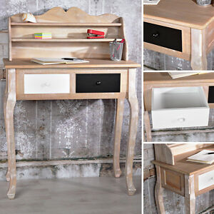shabby sekret r schreibtisch frisier schmink kommode kosmetik tisch vintage holz. Black Bedroom Furniture Sets. Home Design Ideas