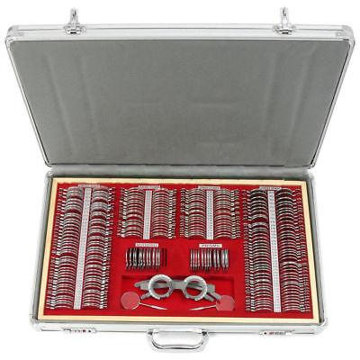 266pieces Optical Trial Lens Set Metal Rim 1 Pc Trial Framealuminium Case Usa