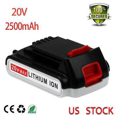 20V 2.5Ah Replace for Black and Decker MAX Lithium Battery LBXR20 LB20 LB2X402