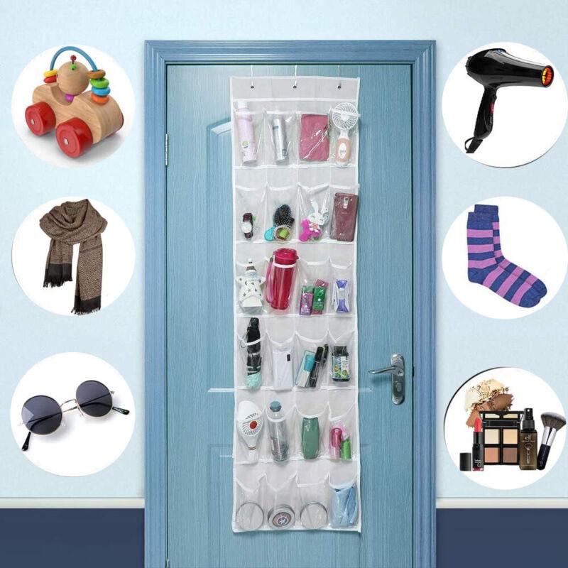 24 Pockets Shoe Organizer Over The Door Organizer Hanging Storage Space Saving