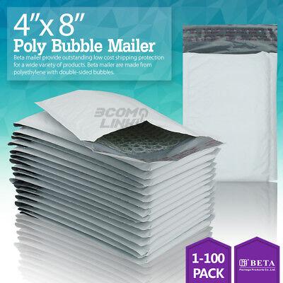 000 4x8 4x7 Poly Bubble Mailer Self Padded Envelope Bag 2550100250500 Pcs