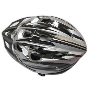 New-2012-Mens-Bicycle-Helmet-PVC-EPS-Black-with-Silver-Bike-Cycling-Adult-Visor