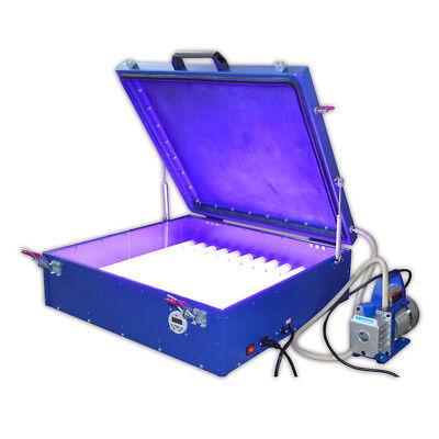 24 X 26 Vacuum Uv Exposure Unit 240w Precise Screen Printing Compressor 110v