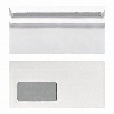 1000 x Briefumschläge DIN lang mit Fenster selbstklebend weiss ,Briefhülle DL sk