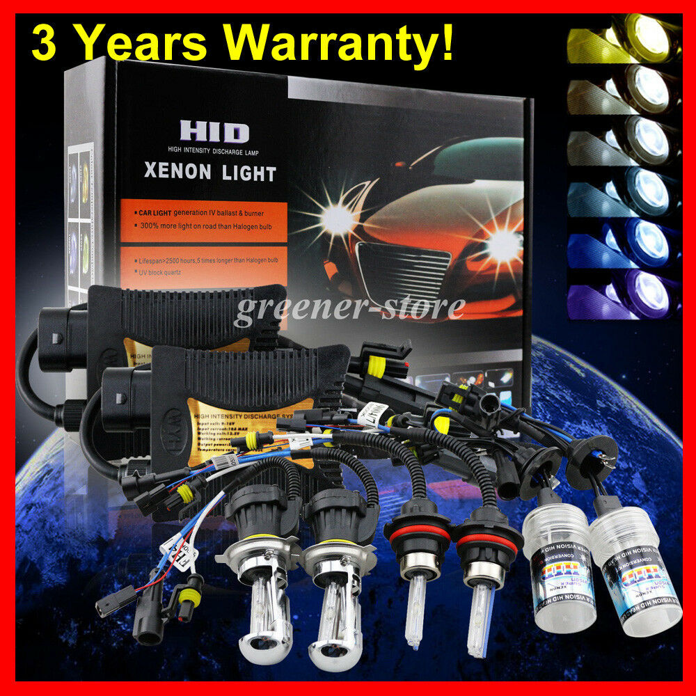 55W HID Conversion Xenon Kit H1 H4 H7 H11 H13 9003 9005 Hi Lo Bi Xenon Headlight