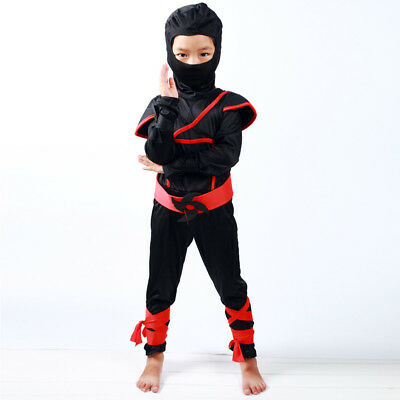 Assassin Costumes For Kids (for 2-12Y Boys Kids Ninja Assassin Japanese Samurai Warrior Fancy Dress)