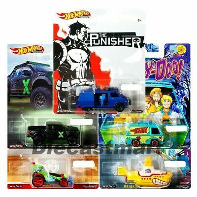 Hot Wheels 1:64 Retro Entertainment Set of 5 DMC55-956P Scooby Doo Punisher More