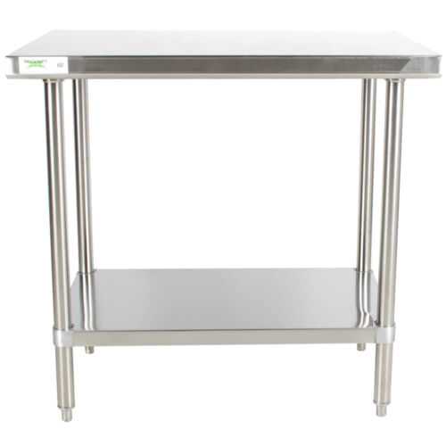 """HEAVY DUTY 30"""" x 36"""" ALL Stainless Steel Work Prep Table Commercial 16 Gauge NSF"""