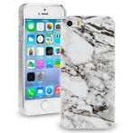 Marble case marmer wit grijs iPhone 5 / 5S / SE