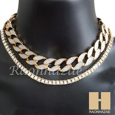 Hip Hop Iced Out 16  Iced Out Choker 4 5Mm Solitaire Lab 18  Tennis Chain 6