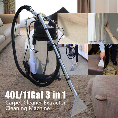 3 In1 40l Household Carpet Cleaning Machine Mobile Dust Cleaner Vacuum Extractor