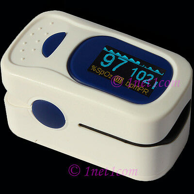 USA FDA CE Oximeter Pulse Finger Tip Fingertip Monitor Blood Oxygen SpO2  OLED  on Rummage