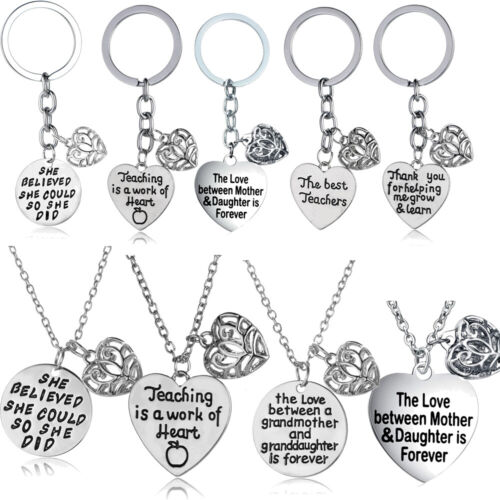 Family Best Friend Necklace Hollow Heart Pendant Gifts For H