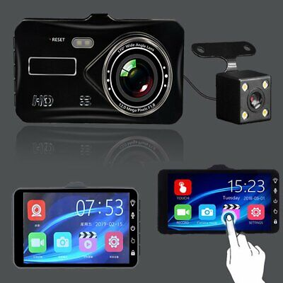 "In Car Camera Recorder Dual Front and Rear HD 1080P 4"" Dash Cam Night Vision"