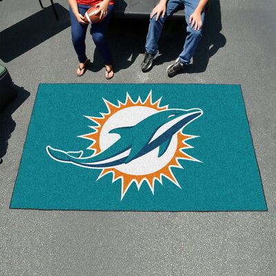 Miami Dolphins NFL Area Rugs UltiMat 5'x8' & Tailgater -