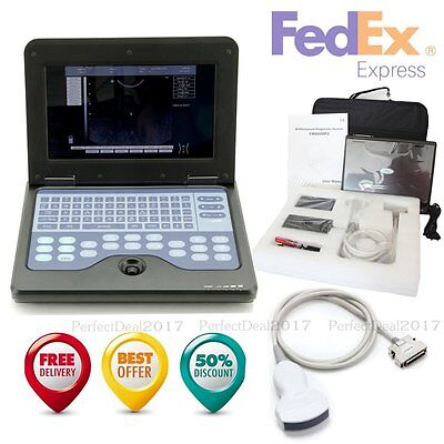 Portable Laptop Machine Digital Ultrasound Scanner 3.5 Convex Probeusa Fedex