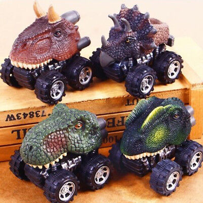 Partys For Boys (Cartoon Animal Dinosaurs Model Pull Back Car For Children Boys Toys Party)