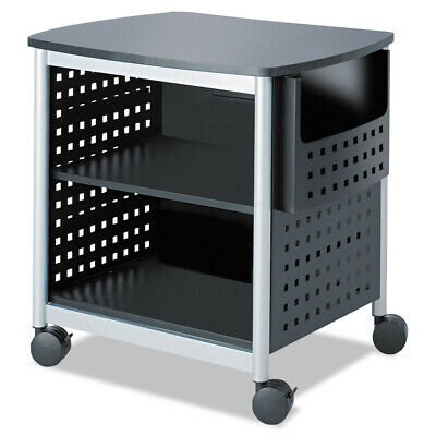 Safco Scoot Printer Stand 26-12w X 20-12d X 26-12h Blacksilver 1856bl New