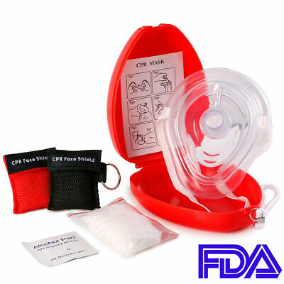Adultchild Cpr Pocket Resuscitator Rescue Mask 2 Keychain Cpr Face Shield