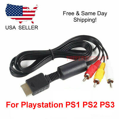 OEM 6FT RCA AV TV Audio Video Stereo Cable Cord For Playstation PS1 PS2 PS3 A/V 6 Ps2 Cable